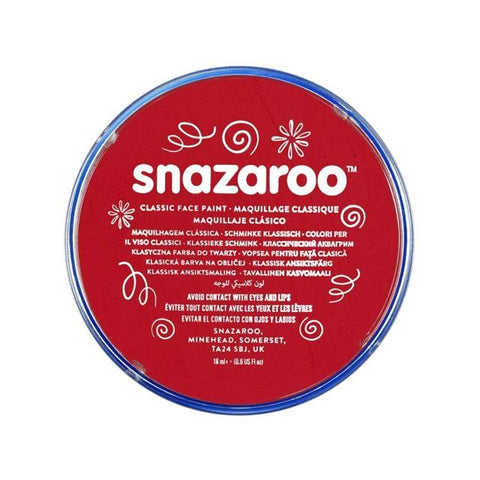 Snazaroo Professional Face Paint 18Ml Bright Red Art Materials