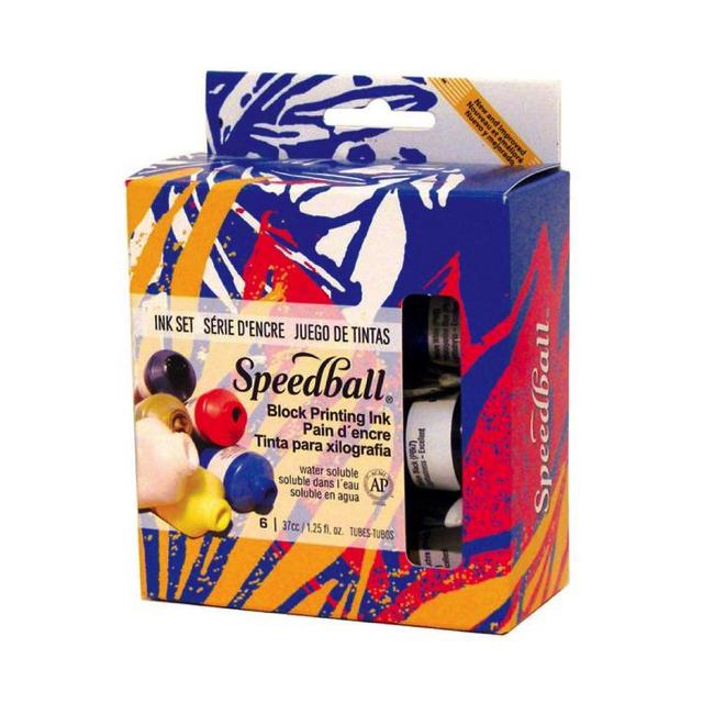 Speedball Block Printing Ink Set 6 X 1.25Fl Oz Art Materials