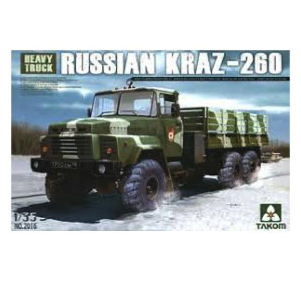 Takom Russian Kraz-260 Heavy Truck Kit - 1:35 Tak2016 Art Materials