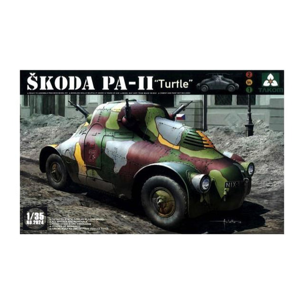 Takom Skoda Pa-Ii Turtle Kit - 1:35 Tak2024 Art Materials