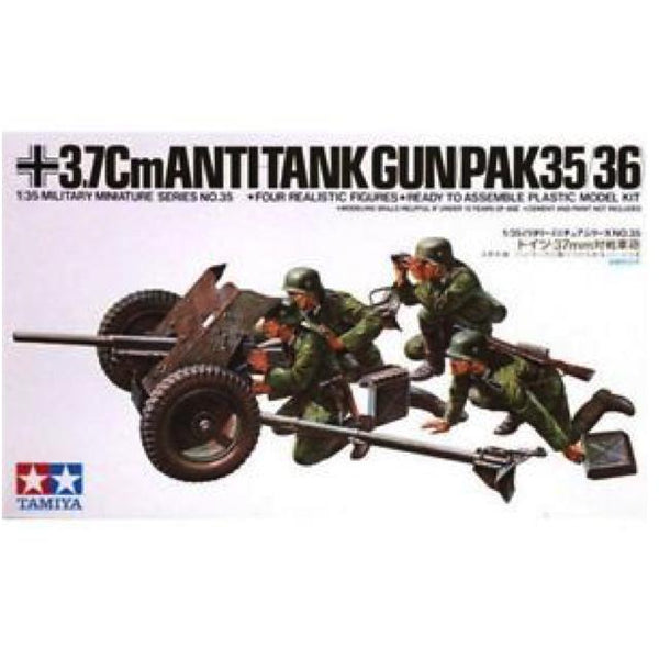Tamiya 35035 3.7Cm Anti Tank Gun (Pak35/36) 1:35 Art Materials