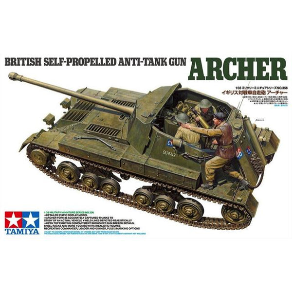 Tamiya 35356 British Self Propelled Anti Tank Gun Archer 1:35 Art Materials