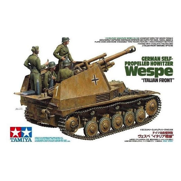 Tamiya 35358 German Self Propelled Howitzer Wespe Italian Front 1:35 Art Materials