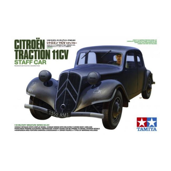 Tamiya Citroen Traction Iicv Staff Car 1:35 Art Materials