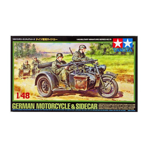 Tamiya German Bike & Sidecar 1:48 Art Materials