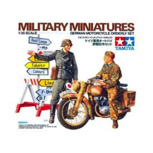 Tamiya German Motorcycle Orderly Set 1:35 Art Materials