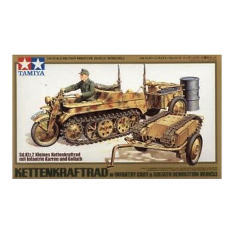 Tamiya Kettenkraftrad W/cart & Goliath 1:48 Art Materials