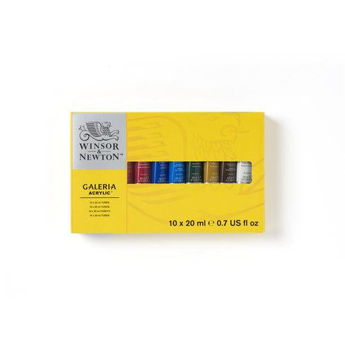 Winsor & Newton Galeria Acrylic 10 X 20Ml Tube Set Art Materials