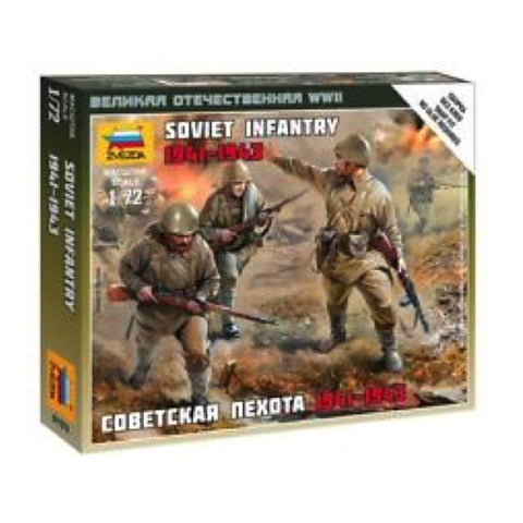 Zvezda 6103 Soviet Infantry 1:72 Art Materials