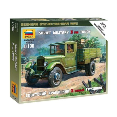 Zvezda 6124 Soviet Military 3 Ton Truck 1:100 Art Materials