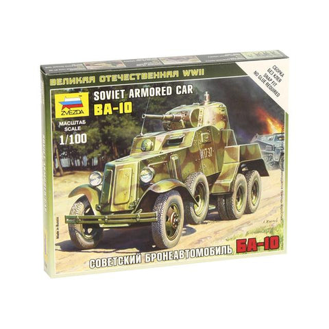 Zvezda 6149 Soviet Armoured Car Ba-10 1:100 Art Materials