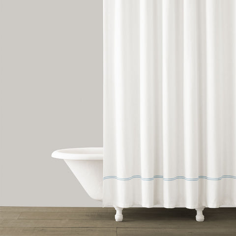 Double Line Shower Curtain. $60.00. 2 Colors Available