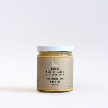 TOASTED SESAME + MAPLE CASHEW BUTTER