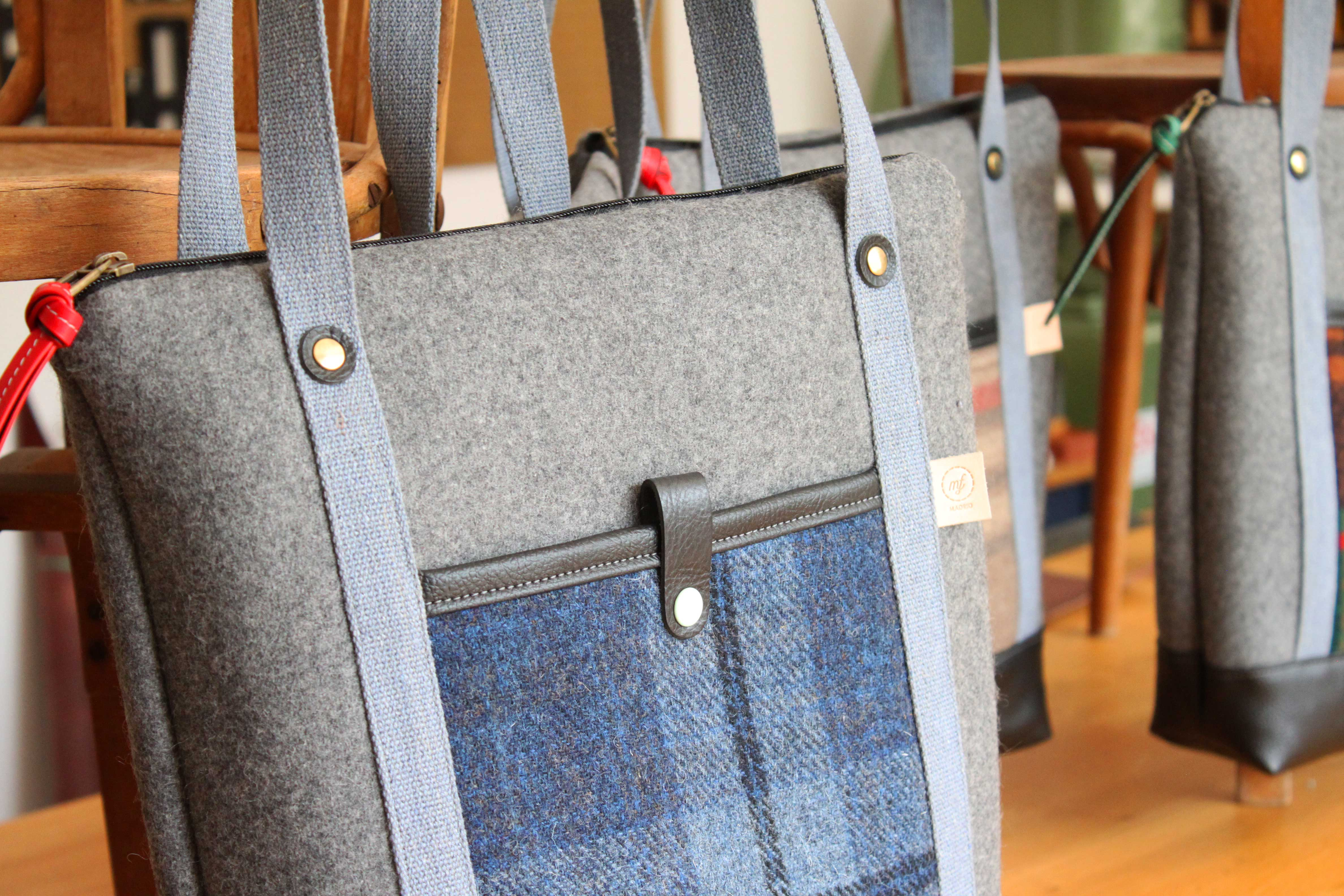 NO. 14 | TOTE BAG - GREY & BLUE