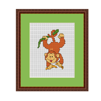 Funny Monkey Cross Stitch Pattern