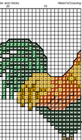 Rooster And Chickens Cross Stitch Pattern. Cross Stitch PDF Pattern.