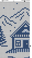 Winter House. Christmas Cross Stitch Pattern