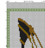 Poinsettias High Heel Cross Stitch Pattern. Flower Shoe PDF Pattern.
