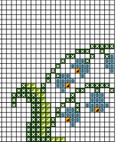 Decorative Easter Napkin Cross Stitch Pattern. Easter Ornament.