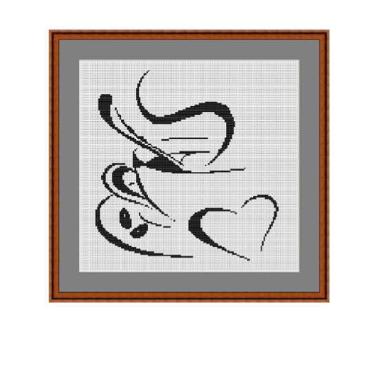 The Cup Of Coffee Cross Stitch Pattern