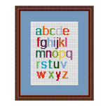 Lower Case Alphabet Alphabet Cross Stitch Pattern