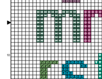 Lower Case Alphabet Alphabet Cross Stitch Pattern. Alphabet PDF Pattern.