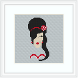 Amy Winehouse Cross Stitch Kit. Feminist Cross Stitch. Modern Cross Stitch.
