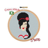 Amy Winehouse Cross Stitch Kit.