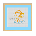 Little Angel Cross Stitch Pattern