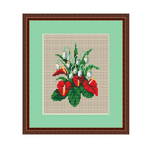 Anthurium Cross Stitch Pattern