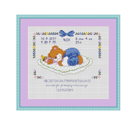 Baby Metrics Cross Stitch Pattern PDF