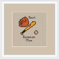 Best Baseball Mom Cross Stitch Kit