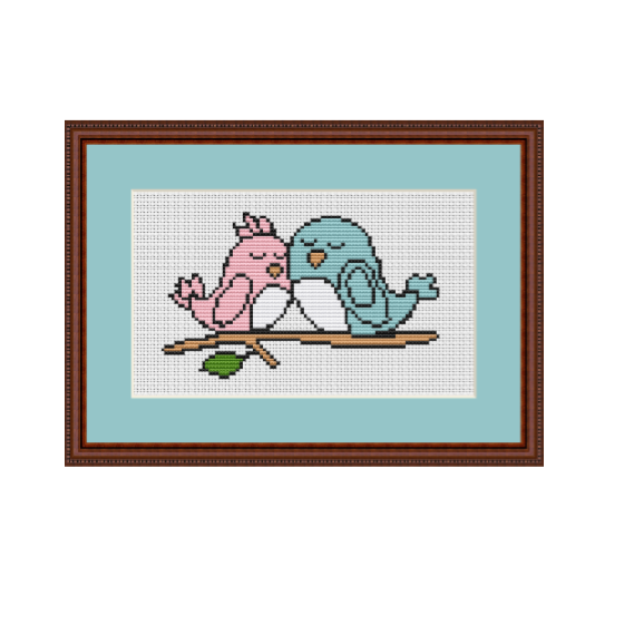 Funny Birds Cross Stitch Pattern. Cross Stitch PDF Pattern.