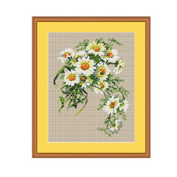 Daisies Counted Cross Stitch Pattern