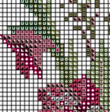 Gladiolus Counted Cross Stitch Pattern