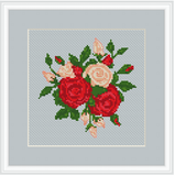 Bouquet Of Roses Cross Stitch Pattern