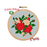 Bouquet Of Roses Cross Stitch Kit