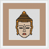Buddha Cross Stitch Kit. Modern Cross Stitch Pattern.