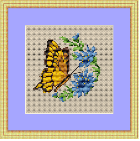 Butterfly Cross Stitch Pattern.