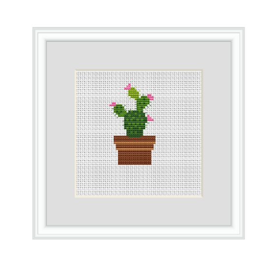 Cactus Cross Stitch Pattern.