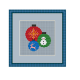 Christmas Balls Cross Stitch Pattern. Ornaments PDF Pattern.
