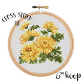 Chrysanthemum Cross Stitch Kit