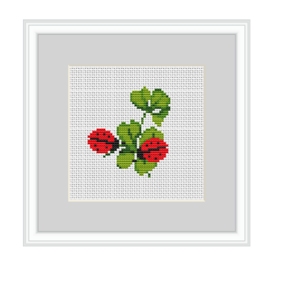 Clover And Ladybugs Cross Stitch Pattern
