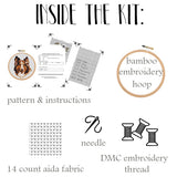 Collie Embroidery Kit. Dog Cross Stitch Kit