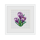 Crocuses Cross Stitch Pattern.