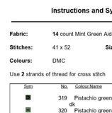 Cyclamen Cross Stitch Pattern.