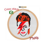 David Bowie Cross Stitch Kit. Modern Cross Stitch Pattern.