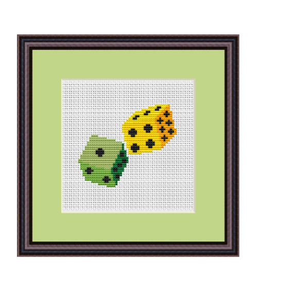 Dices Cross Stitch Scheme.