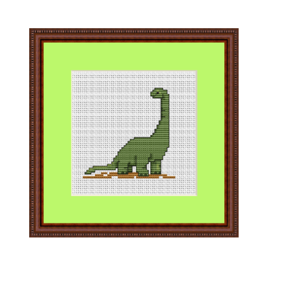 Dinosaur Cross Stitch Pattern.