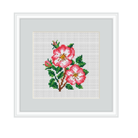 Dog-rose Cross Stitch Pattern.